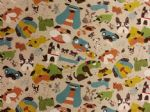 NEW! DOGGIE DELIGHT COLOUR - Fabric 80% Cotton 20% LINEN - Price Per Metre